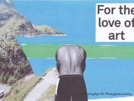 collage kunst man die duikt
