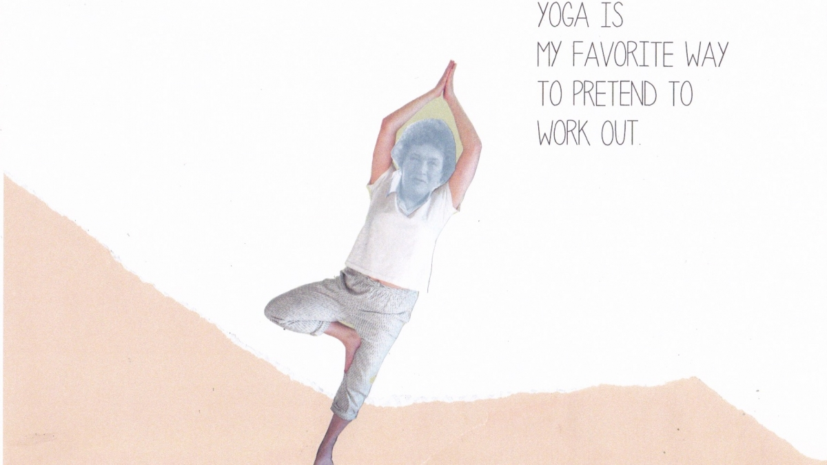 collage yoga warrior