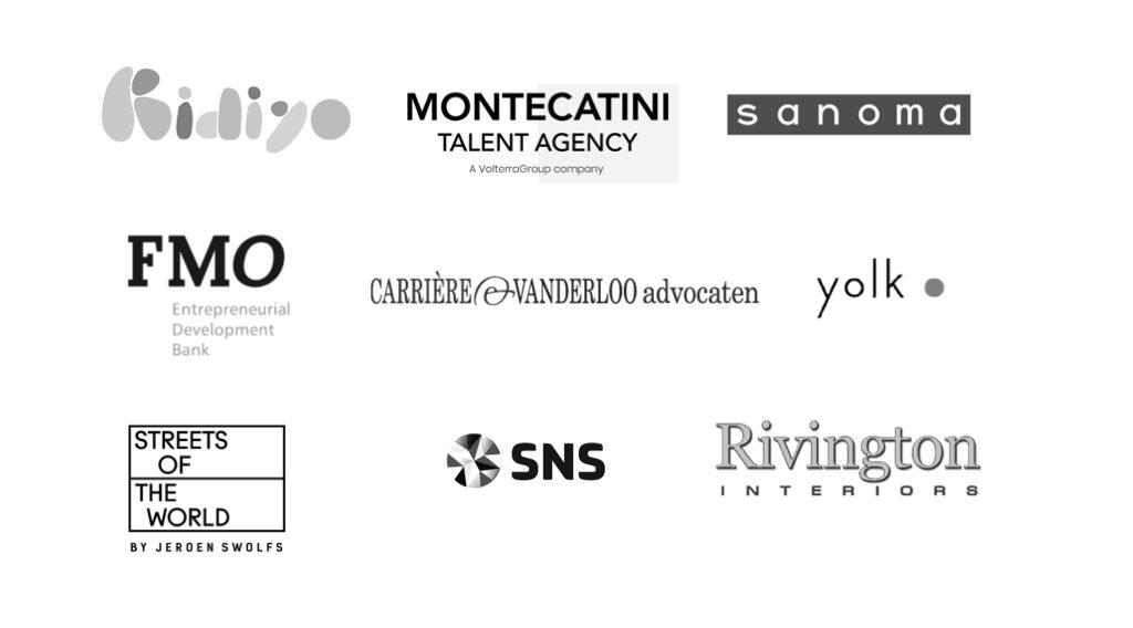 Logos opdrachtgevers Nicoline van Slingelandt